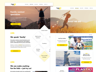 Web Deign for Media Agency user experience ui interaction design ux uidesign agency marketing media website design web design design