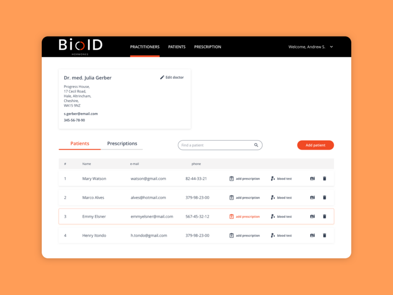 UI Design for Beauty Medical Clinic CRM System BioID visual design user interface interaction design illustration ui treatment medical clinic beauty dashboad platform design crm portal