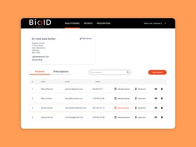 UI Design for Beauty Medical Clinic CRM System BioID visual design user interface interaction design illustration ui treatment medical clinic beauty dashboad platform design crm portal