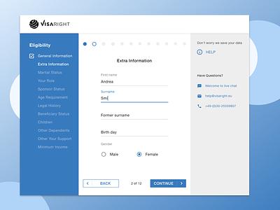 Redesign the application form for immigration service website application ui  ux user experience design concept web desgin immigration visa redesign