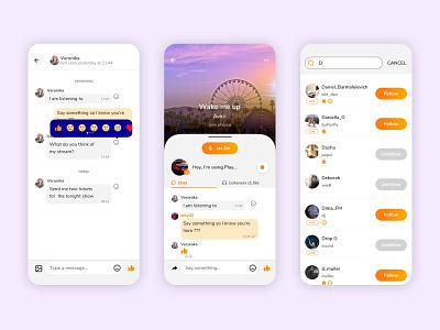Social Music App search results mobile app design mobile app message on air social music user experience app