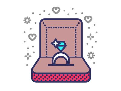 Wedding ring vector illustration icon set icon design icon proposal valentinesday valentines fiance marriage ring wedding