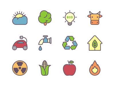 Ecology - free icon set.
