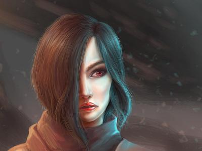 Diablo III fan art. Valla's portrait. blizzard valla painting portrait fan art hunter demon old diablo 3