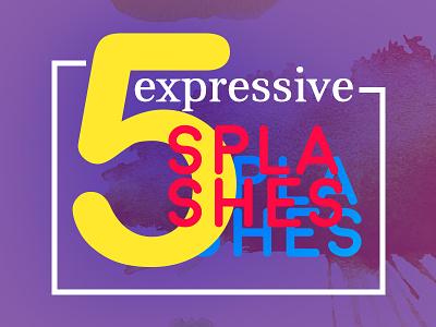 Splash! paper texture brush set eps stock colour expressive vector paint watercolor splash