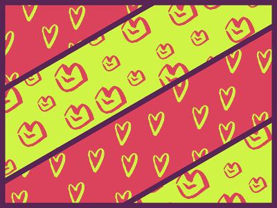LoVe pattrns. passion valentine bright seamless color design illustrator vector hearts lips pattern love