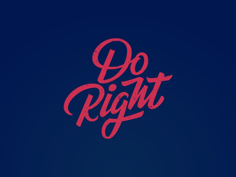 Do Right typism typeyeah typespire typematters typegang tombow lettering handlettering handdrawn brushlettering goodtype design do right