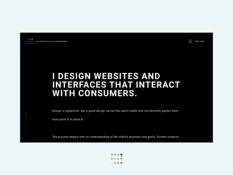 About Page user interface typography logo website minimalistic minimal branding creative ux ui