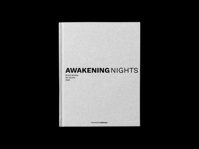 Awakening Nights Branding Book illustration digital visual vector typogaphy typeface minimalistic logotype logo design logo design language design creative logo creative branding brand designer brand design