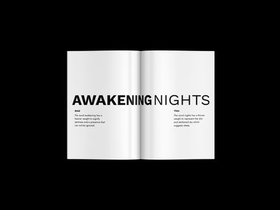 Awakening Nights Logo event flyer ios minimalistic visual digital creative minimal branding design branding whitespace white logodesign logotype logo event