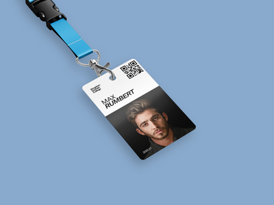 College Badge | Name Tag illustration digital creative identity identity design branding lettering barcode cards ui card design name tag namecard tag visual design