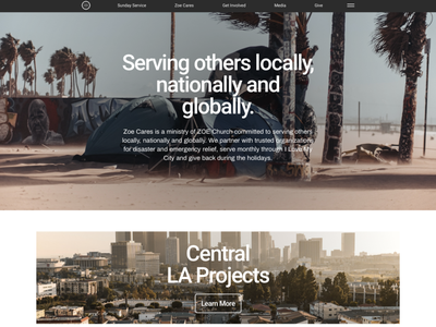 Outreach Ministry feed organization fundraising funding outreach city homeless philanthropy donate charity community landing page donation nonprofit desktop web ux ui
