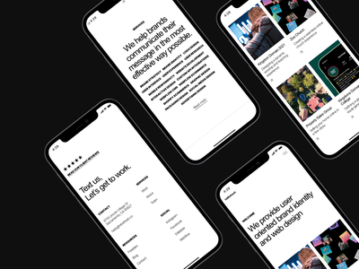 Agency Mobile UI clean case study layout product corporate interface studio creative whitespace minimal mobile agency portfolio business typography ios app minimalistic ux ui