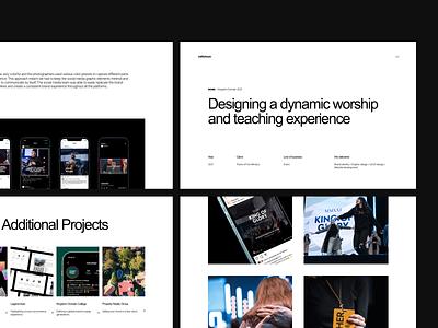 Case Study | KD21 clean agency web layout behance ux work studio logo webpage branding webdesign typography ui design website project portfolio case study ui minimal
