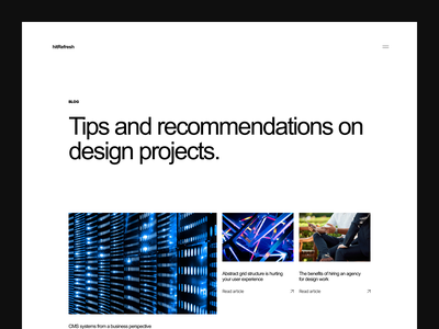 Agency Blog digital design website web design news landing page branding cms layout startup agency business thumbnail magazine article blog blog post ux ui minimal