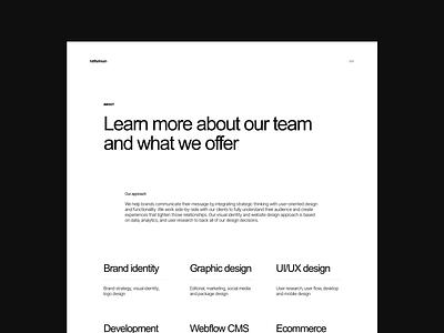 About Page website clean landingpage agency web responsive webdesign typography light layout landing hero design minimal ui