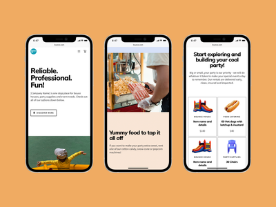 Mobile Landing Page app design parents learning explore playground games family app baby childcare kids children kids app daycare mobile ui mobile app creative minimal ux ui