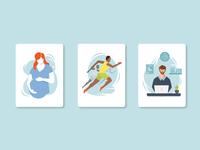 Pregnancy | Athlete | Desk Job Illustration