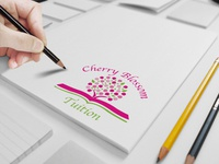 A Kid Tuition Company Logo Cherry Blossom Tuition