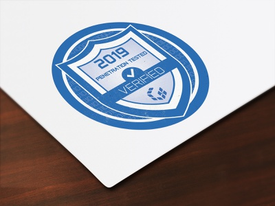 Seal/badge for A cyber security company name Gridware vector illustration color corporate identity cyber security stamp cyber security logo cyber security badge simple badge stamp design logo