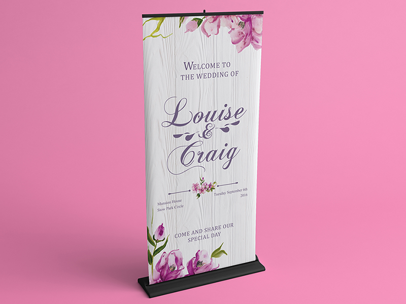 067 Wedding Roller Banner Design By Nisha Droch On Dribbble