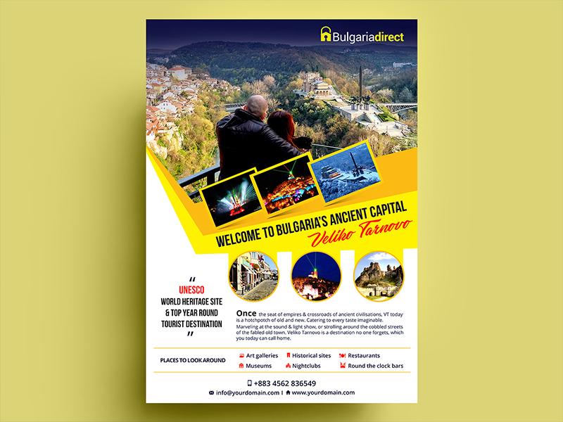 Bulgaria Flyer by Nisha Droch on Dribbble