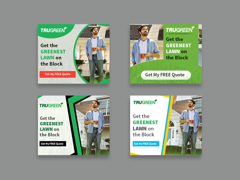 Trugreen Banner Design google ads illustration instagram banner ad advertisement design banner nisha f1 nisha droch nisha