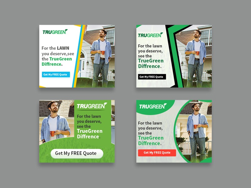 Trugreen Banner Design brochure instagram banner instagram graphics ad advertisement design banner nisha f1 nisha droch nisha