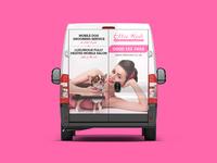 Mobile Dog Grooming Van Cover Design