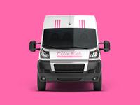 Dog Grooming Service Van Cover Design