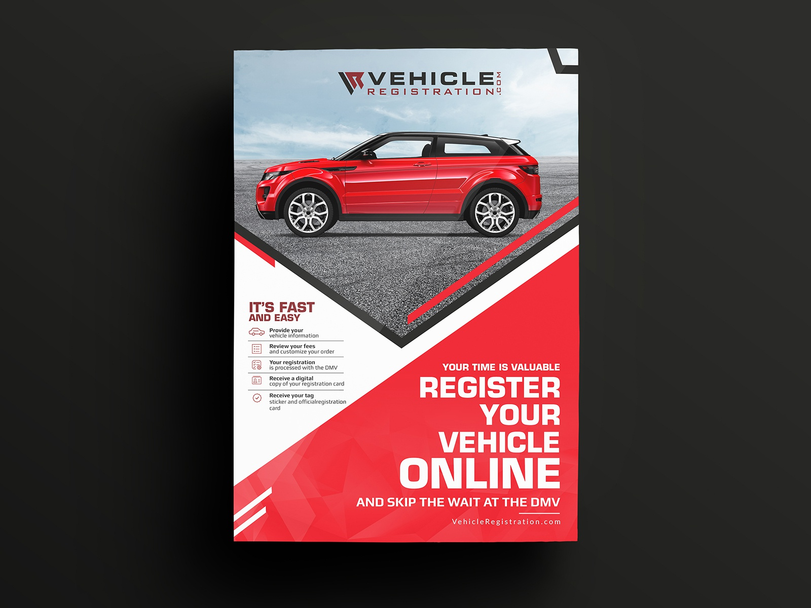 Customize Your Car Online >> Register Your Vehicle Online Flyer Design By Nisha Droch On