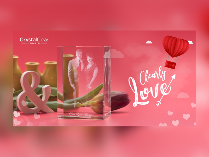 Clearly Love Banner Design crystal poster graphics instagram flyer design banner advertisement ad nisha f1 nisha droch nisha