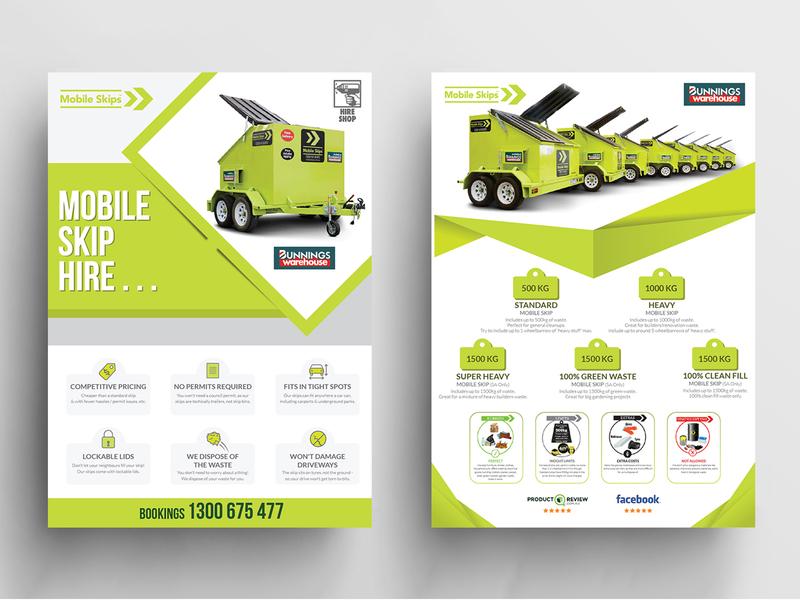 Mobile Skip Hire Flyer Design by Nisha Droch on Dribbble