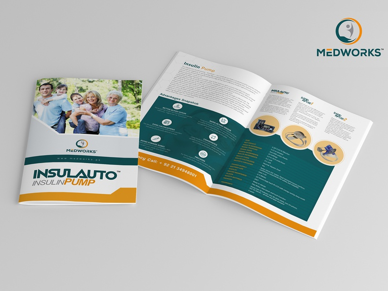 Insulauto Insulin Pump Brochure nishadroch nisha graphics design catalog brochure mockup brochure layout brochure design brochure advertisement