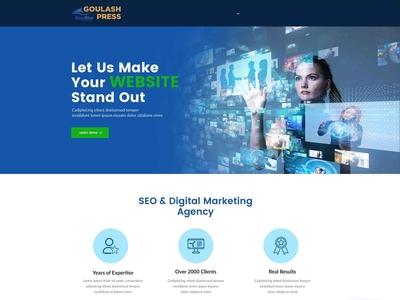 SEO & Digital Marketing Agency Web Page Design