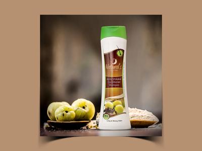 Amla Shikakai Conditioner Shampoo Packaging Design
