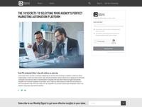 Martech Gazette Web Page Design