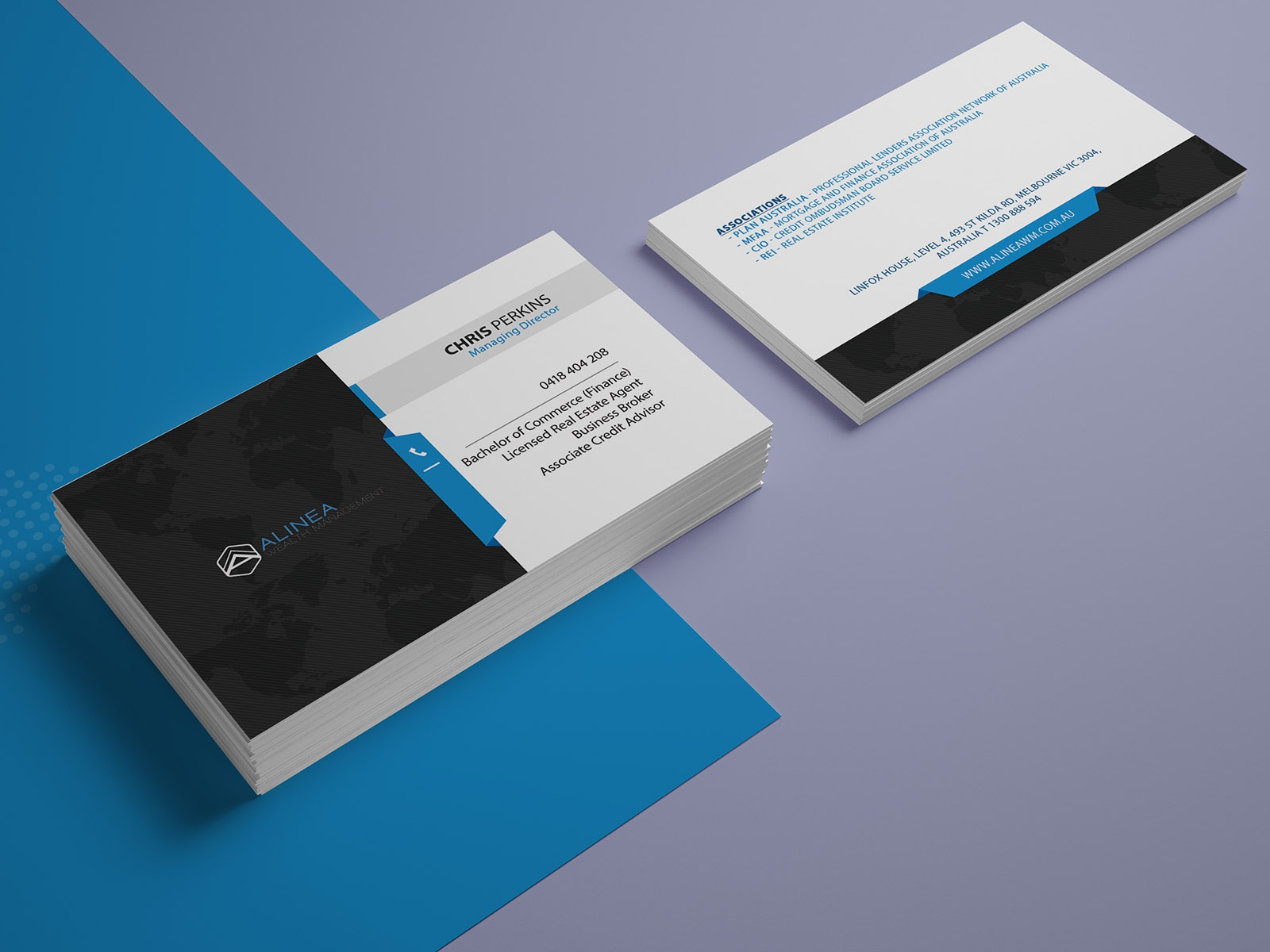 Alinea Wealth Management Business Card by Nisha Droch on