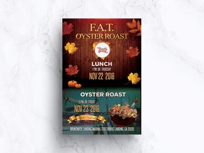 Oyster Roast Flyer Design