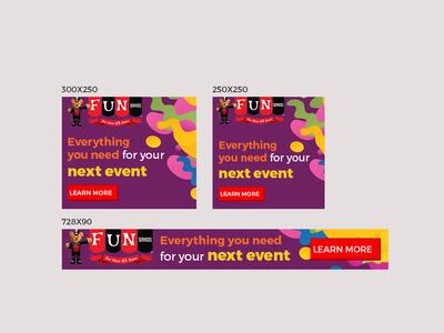 Fun Services Banner Design
