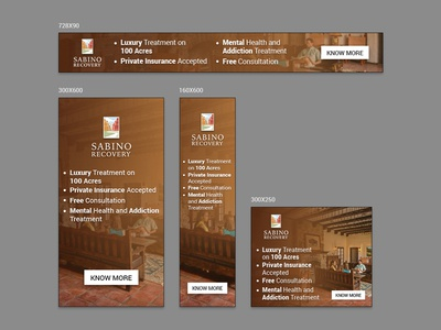 Sabino Recovery Banner Design