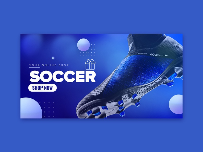 Soccer Banner Design by Nisha Droch on Dribbble