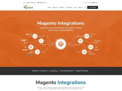 Magento Integrations Web Page Design