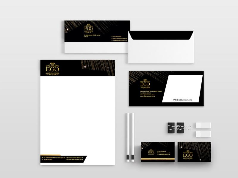 Ego Branding Design ad nisha f1 nisha droch design nisha letter head identity logo design corporate identity business cards design branding brand