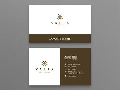 Valia Business Card Design