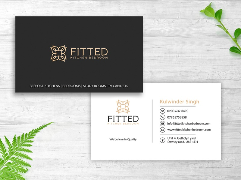 Fitted Business Card Design By Nisha Droch On Dribbble