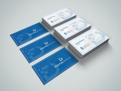 Digital Space Business Card Design
