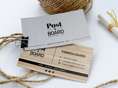 Post & Board Business Card Design