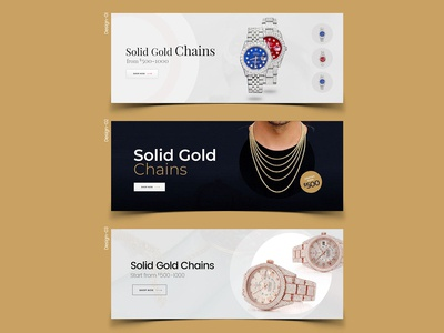 Solid Gold Chains Banner Design