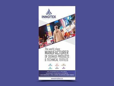 Innotex Banner Design roller rollup banner branding advertisement graphics nisha f1 nisha droch design nisha